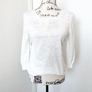 J. Crew White Sweater